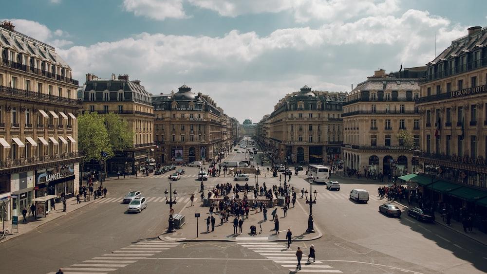 people walking on street near building during daytime