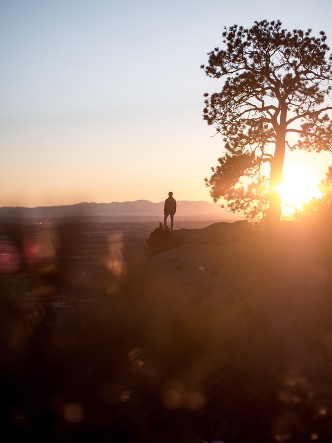 Watching the sunset from the Rimrocks in Billings, MT