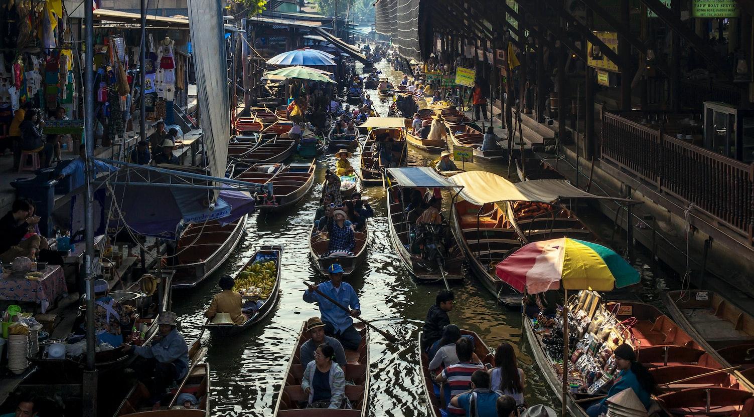 Damnoen Saduak Floating Market Thailand, Things to do in Thailand in November