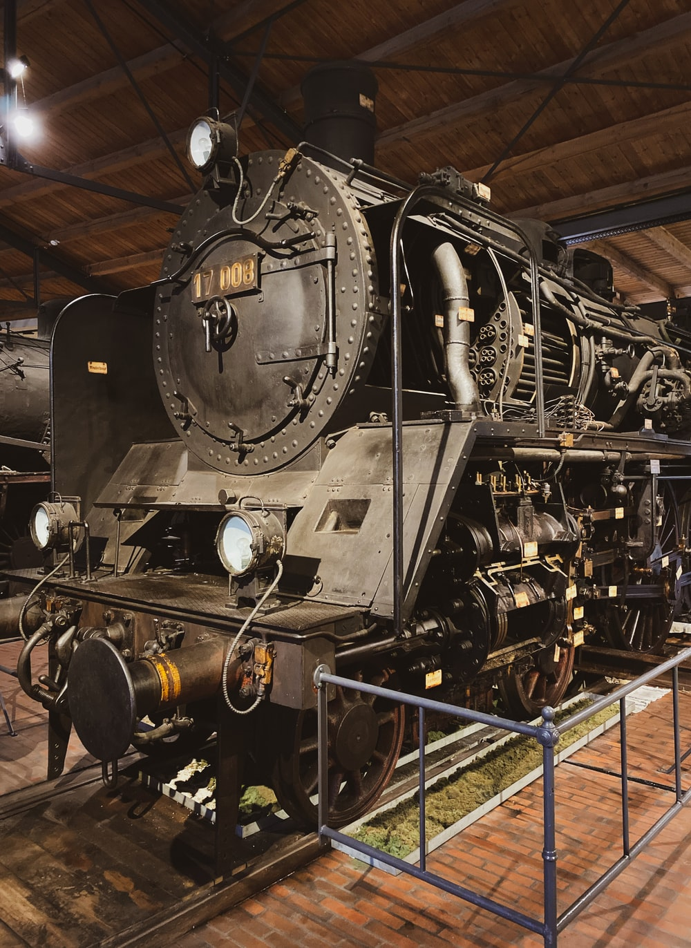 black and gray train engine