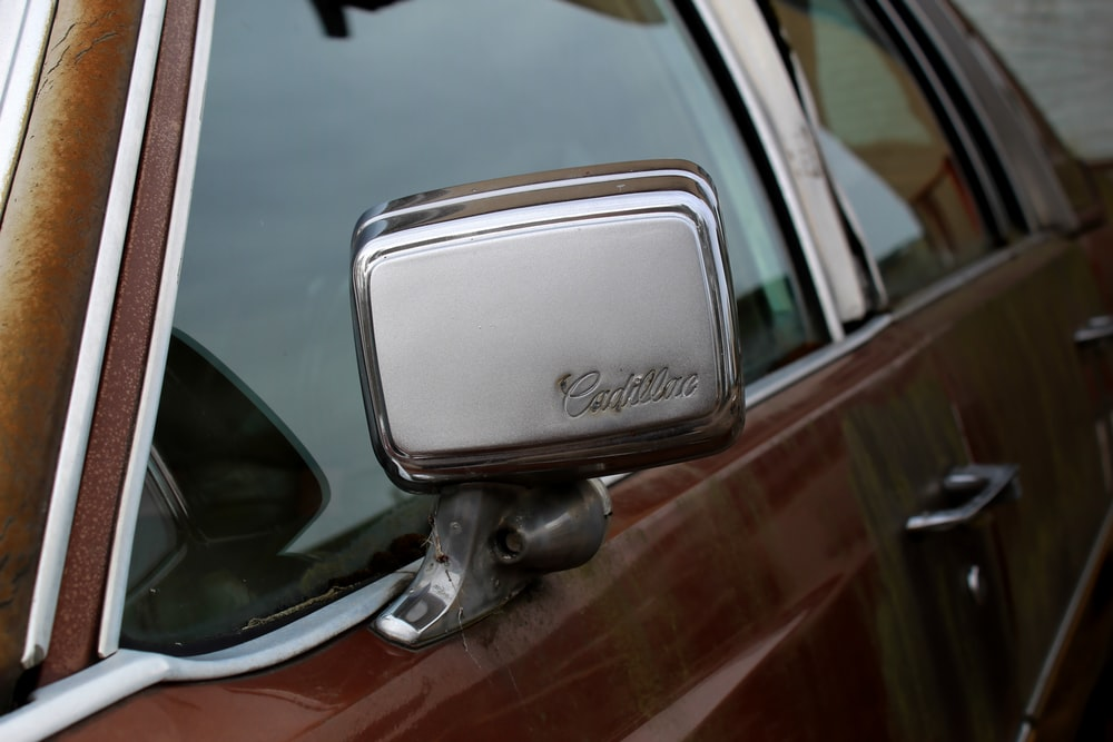 black and silver car side mirror