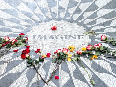 John Lennon Memorial in New York City, United States.
