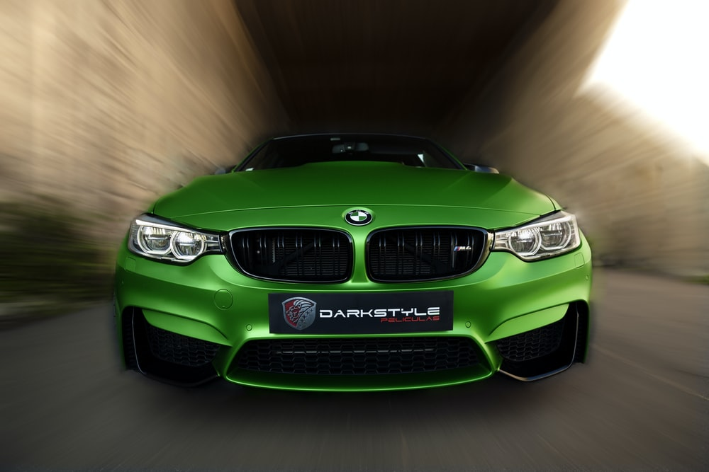 green bmw m 3 coupe