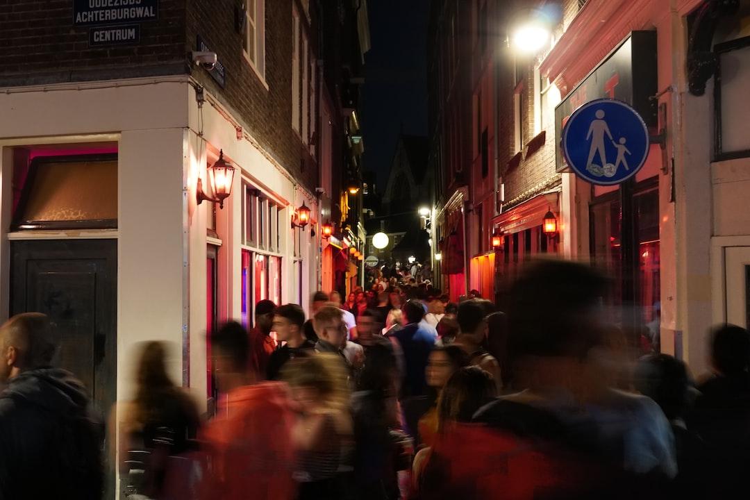 Red Light District (De Wallen) at Night