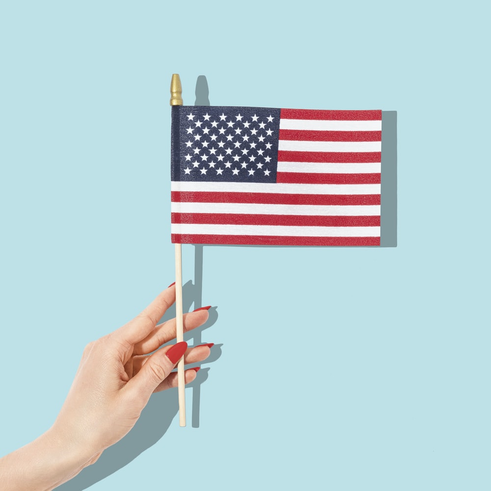 us a flag with white background