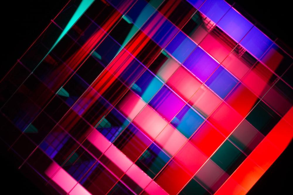 blue and purple digital wallpaper