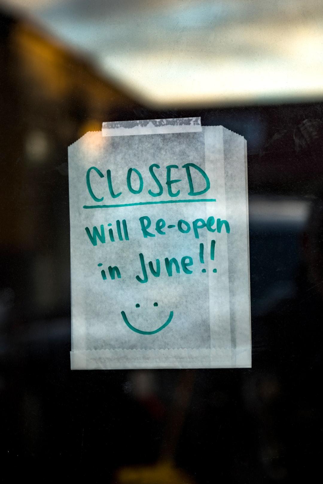 Re-open! 😊