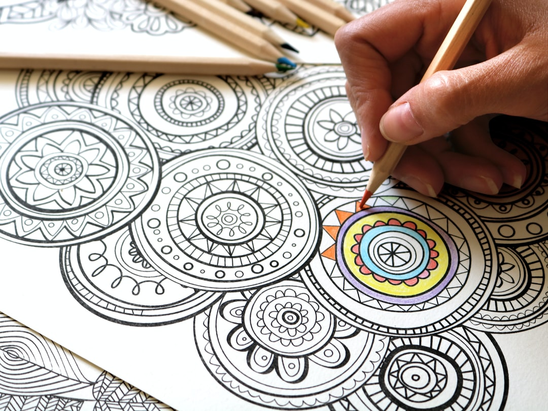 Coloring sheets to achieve more relaxation and focus