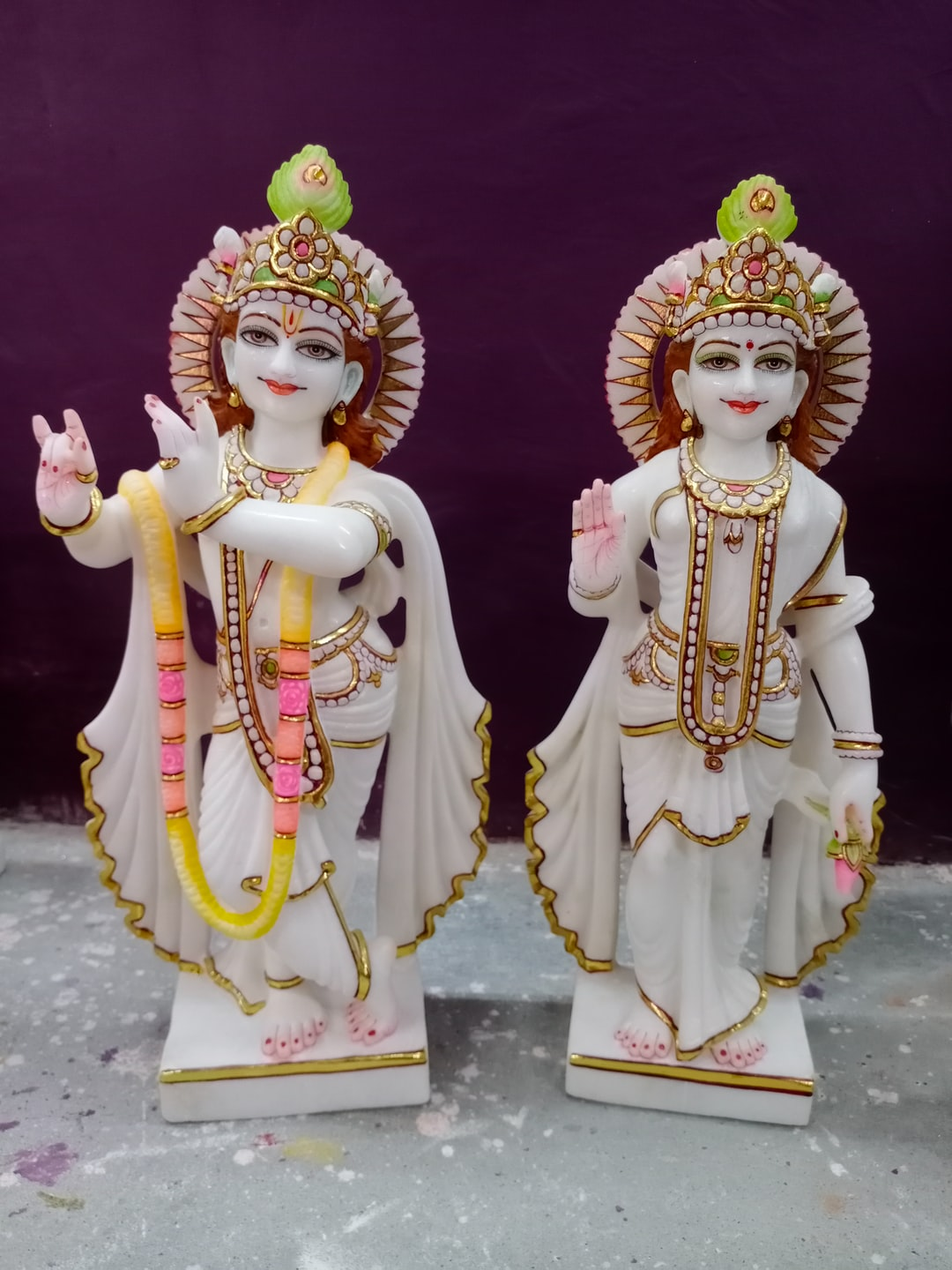 Radha krishna marble statue 18 inches For more info visit - https://www.themurtiwala.com/