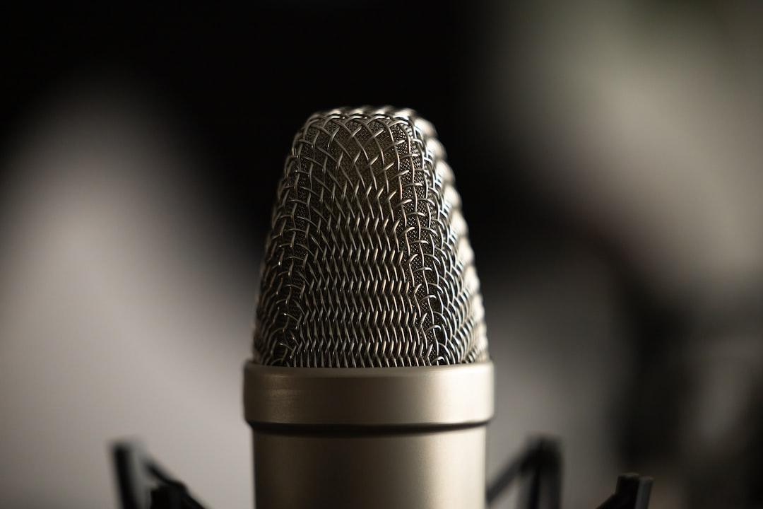 "Closeup of a condenser microphone.  Please consider crediting ""Image: Jukka Aalho / Kertojan ääni"" and linking back to https://kertojanaani.fi."