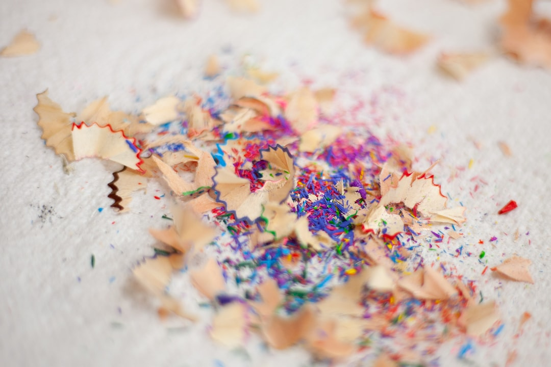 Pencil shavings after a gruelling colouring session