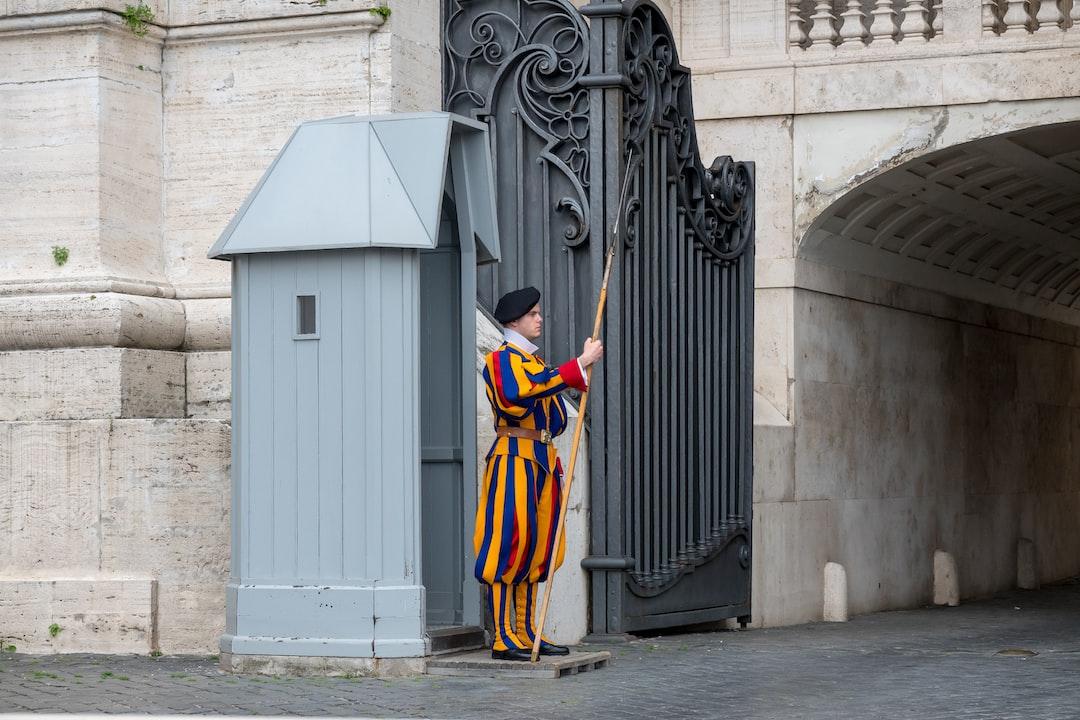 swiss guard at the vatican city