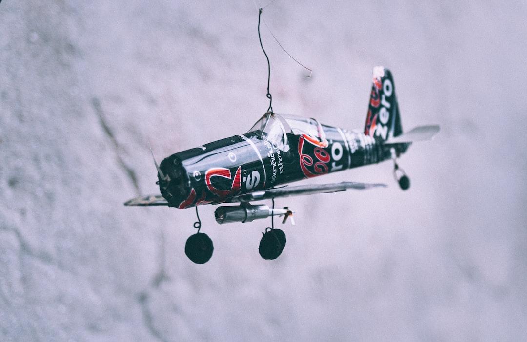 A Japanese Zero fighter made of tin cans of Coka-Cola Zero.