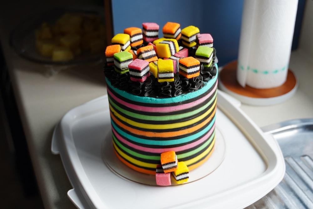 chocolate cupcake on white ceramic plate
