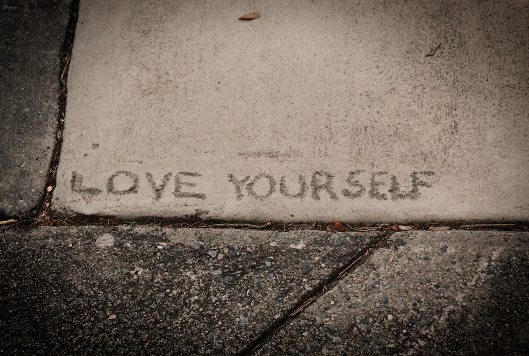 Message written in concrete.