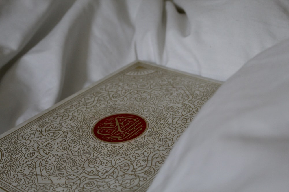 brown and red floral book