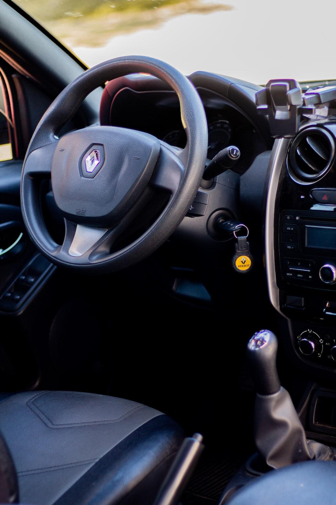 interior of a renault oroch car
