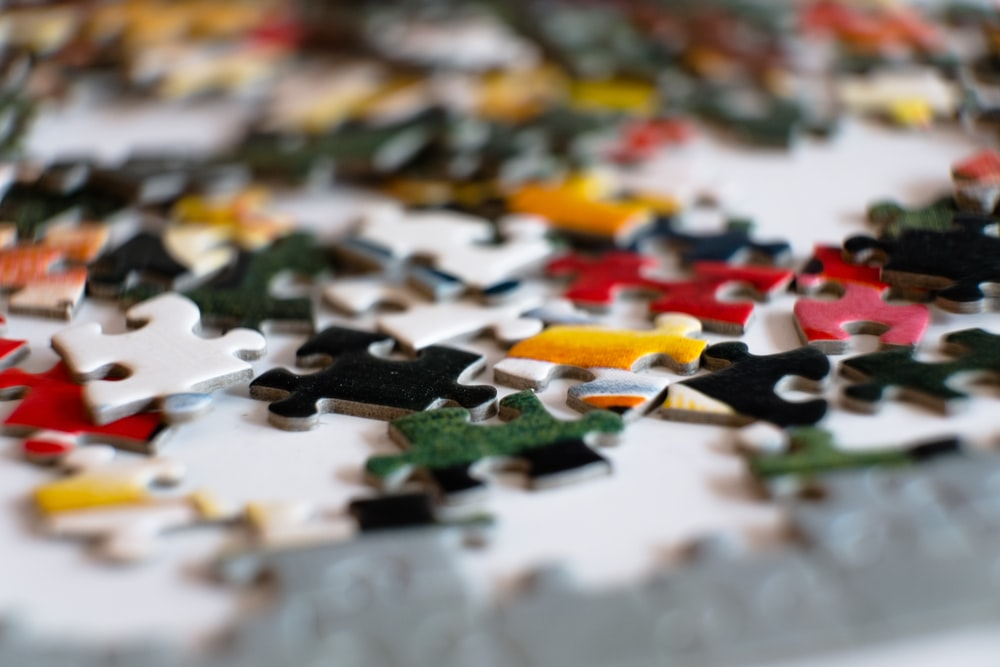 green and yellow jigsaw puzzle