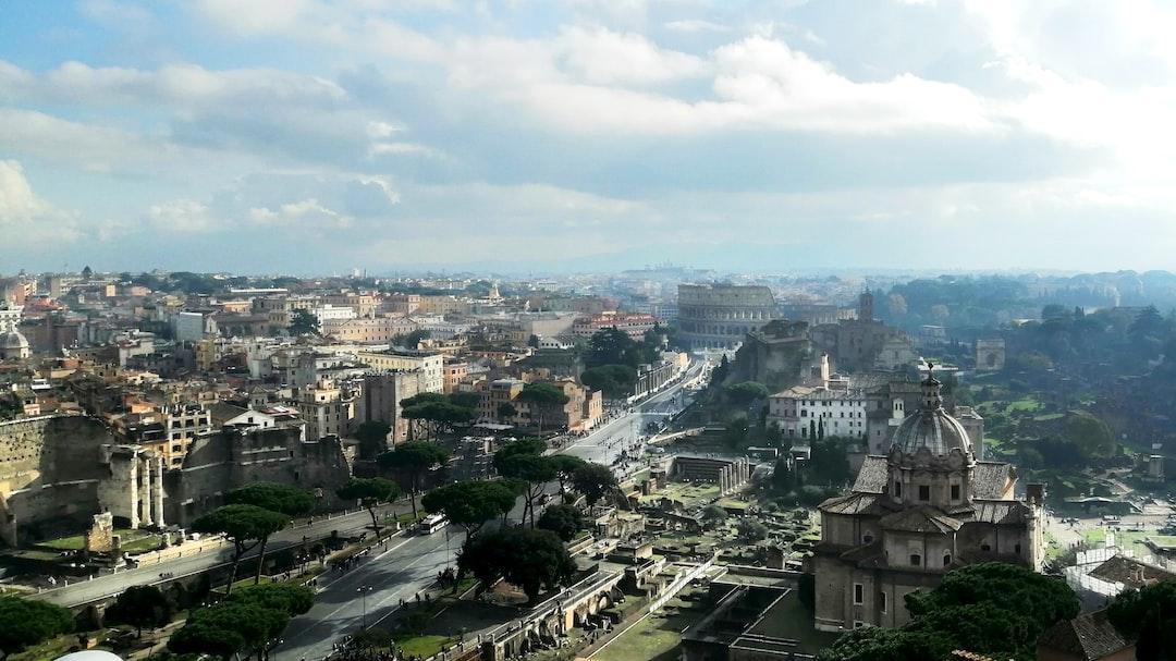 View of the Roman Forum from the Altare della Patria