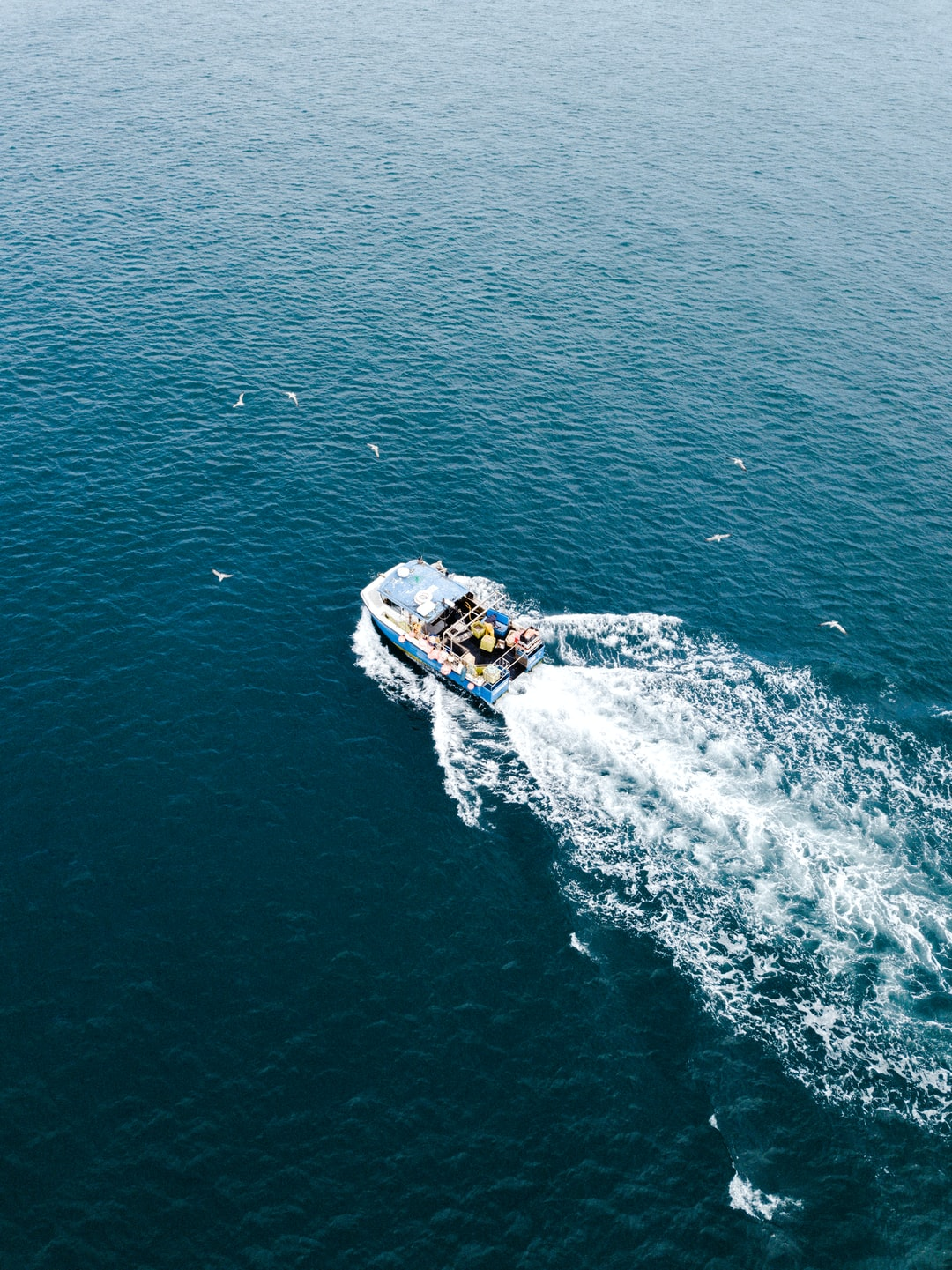 A Fishermans boat in the English Channel.