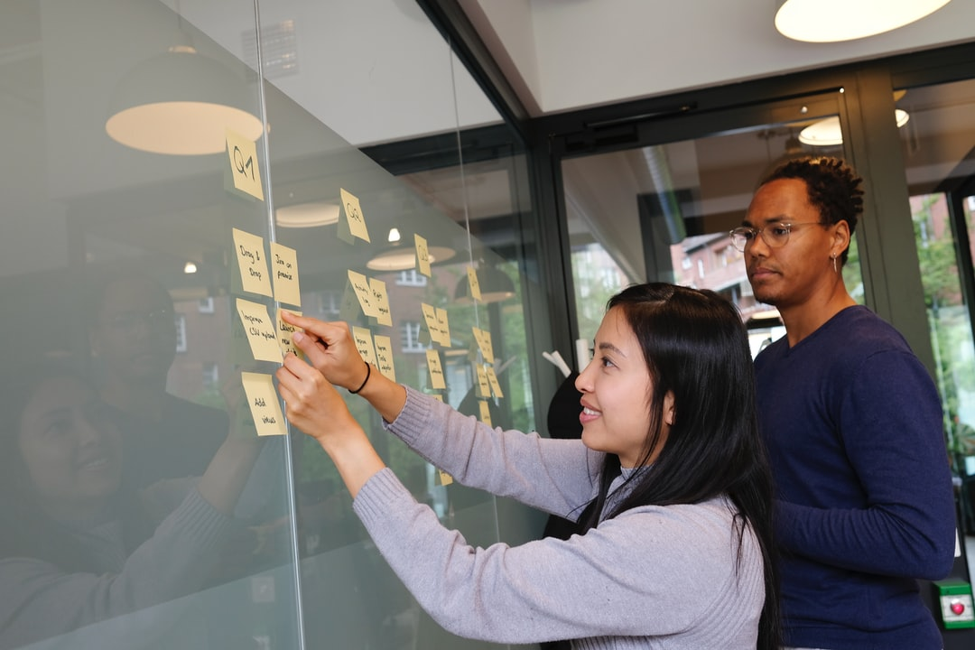 Quarterly planning and prioritization session. Kanban board roadmap.