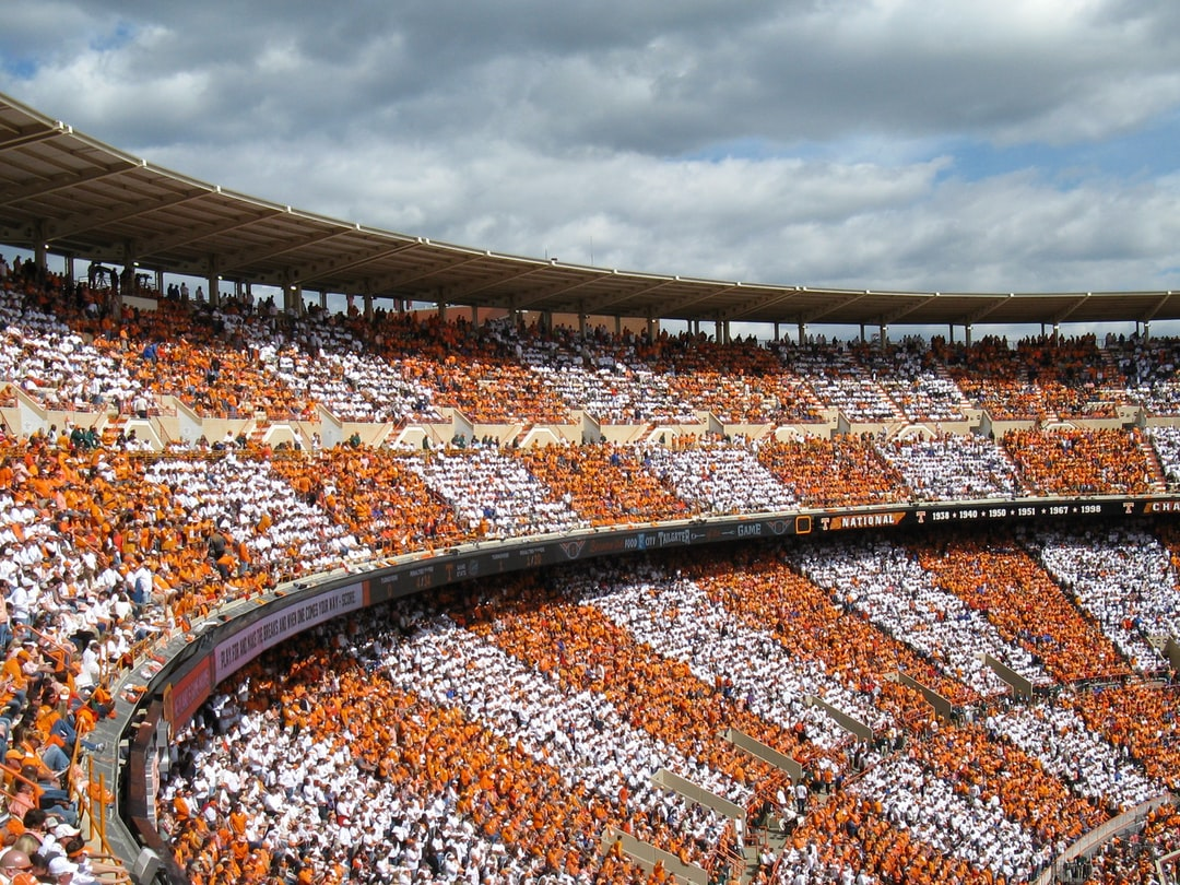 checkerboarded Neyland Stadium at the University of Tennessee