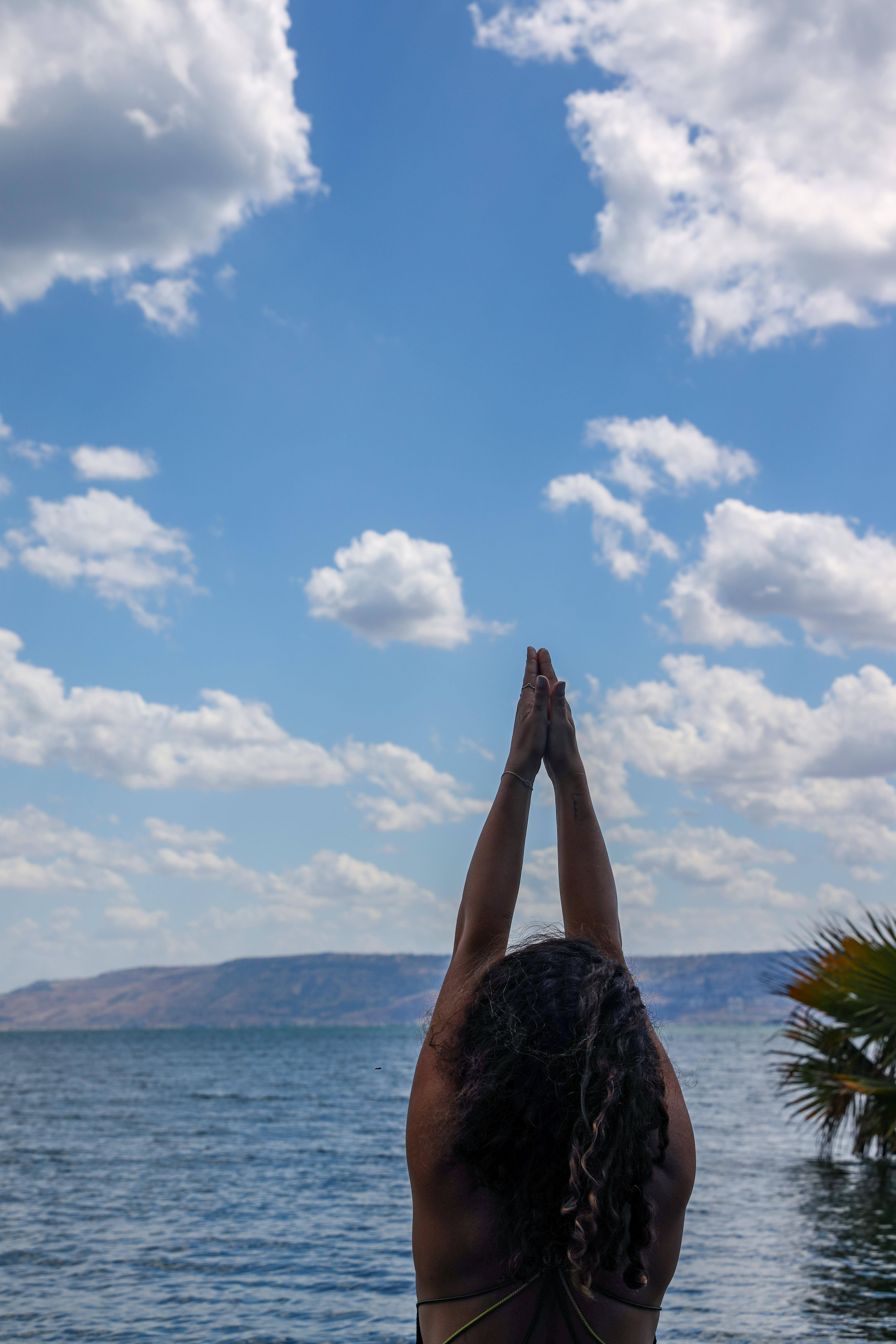 Meditation @sea of Galilee, Israel