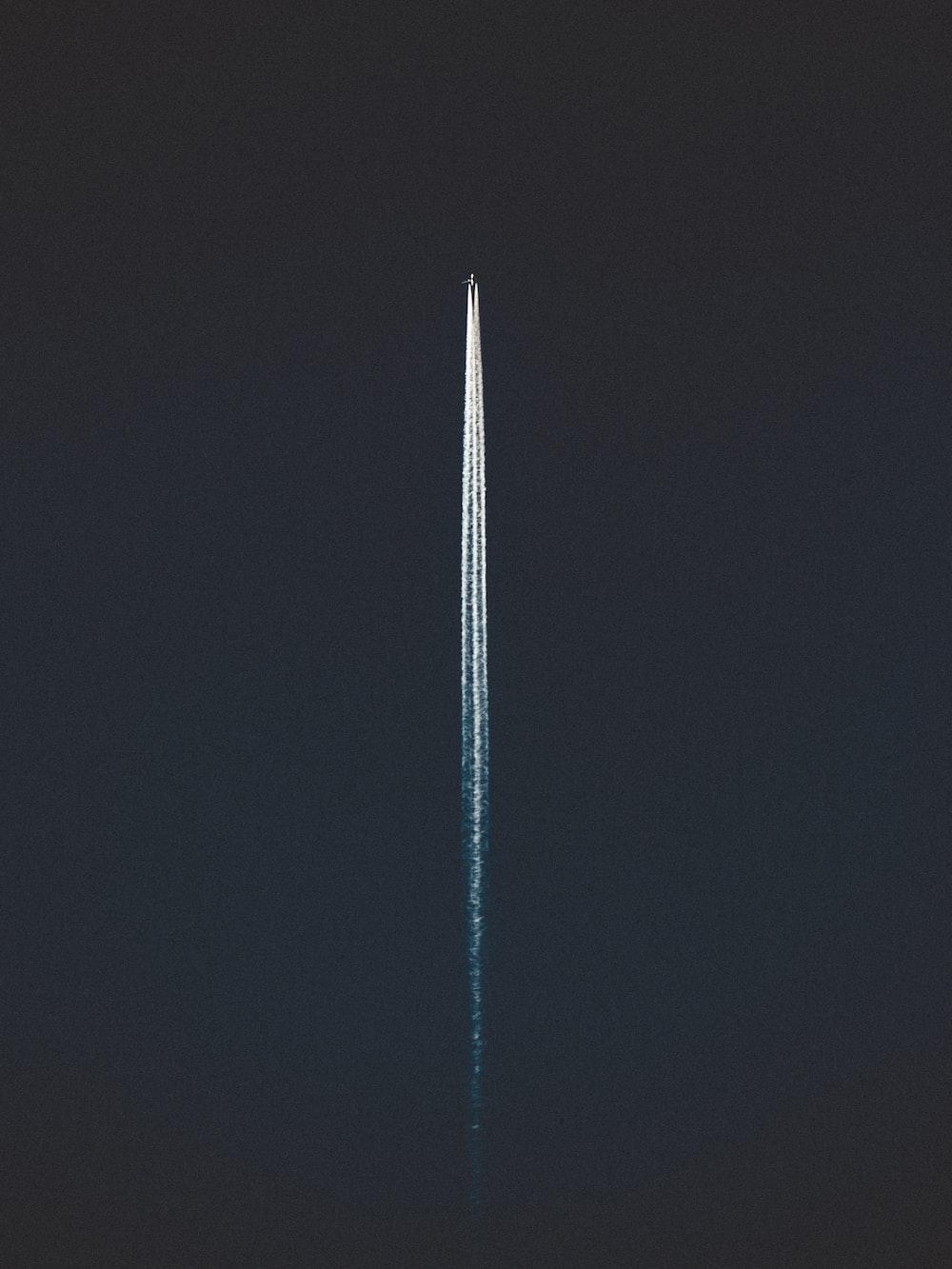 white string light on black background