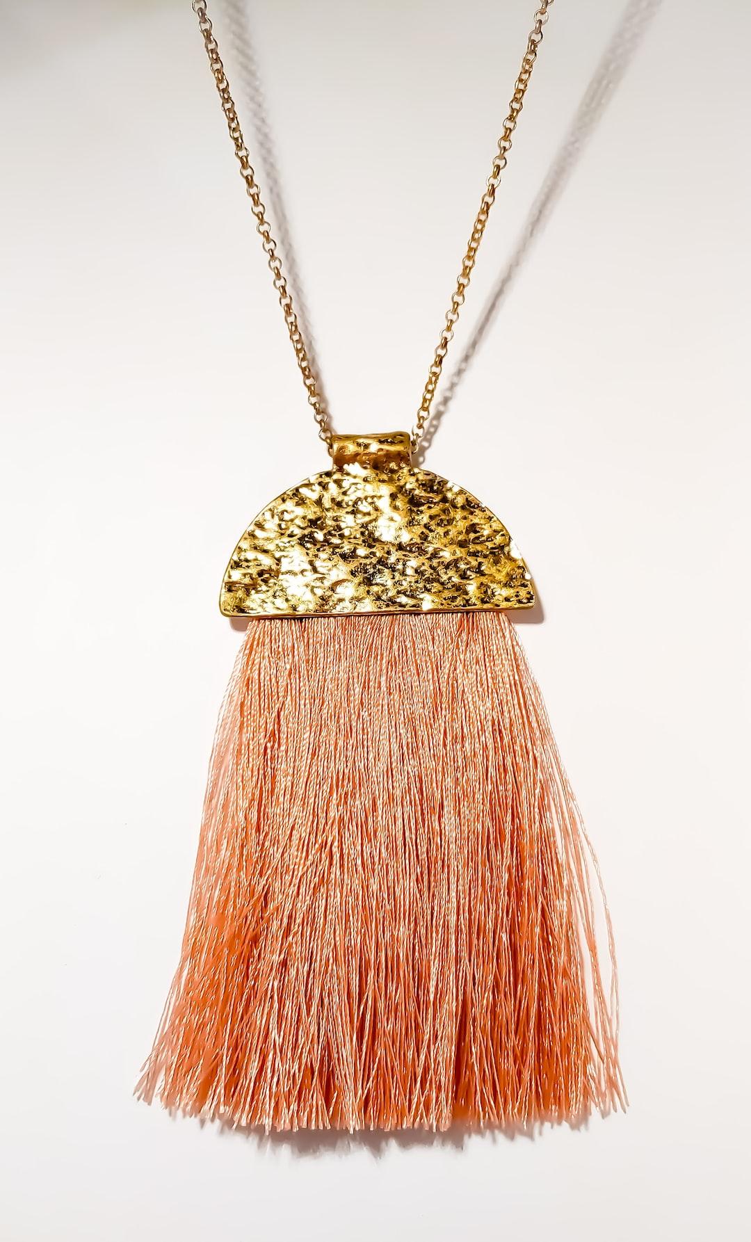 www.gracebo.com tassel necklace