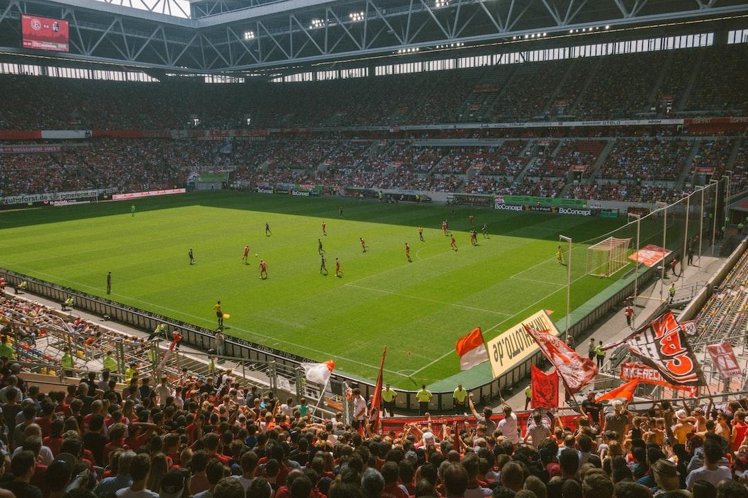 Soccer match Düsseldorf against SC Freiburg.