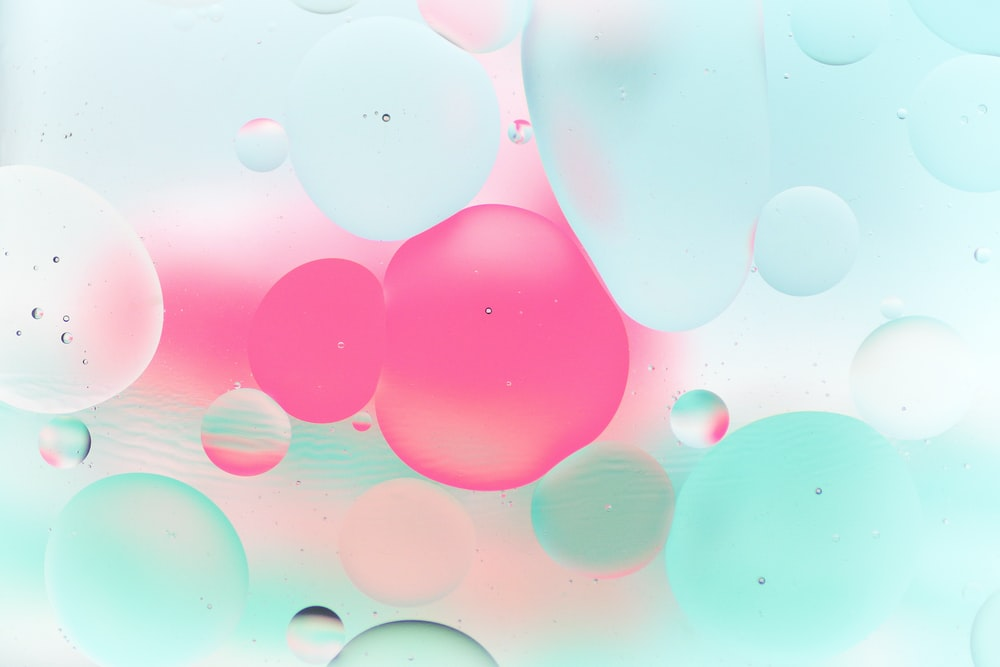 pink and white bubbles illustration