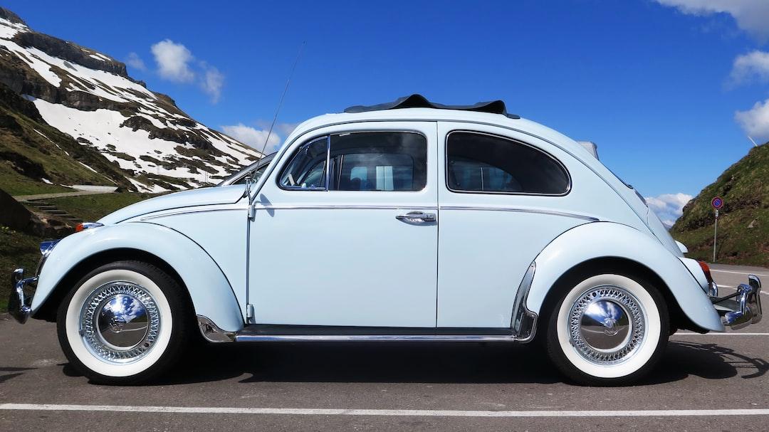 Volkswagen Käfer in the Swiss Mountains.