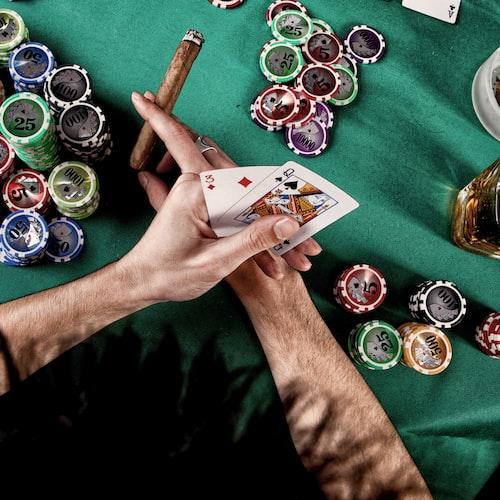 Poker holding