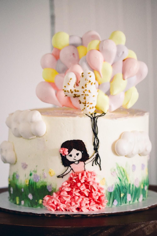 white and black panda bear cake