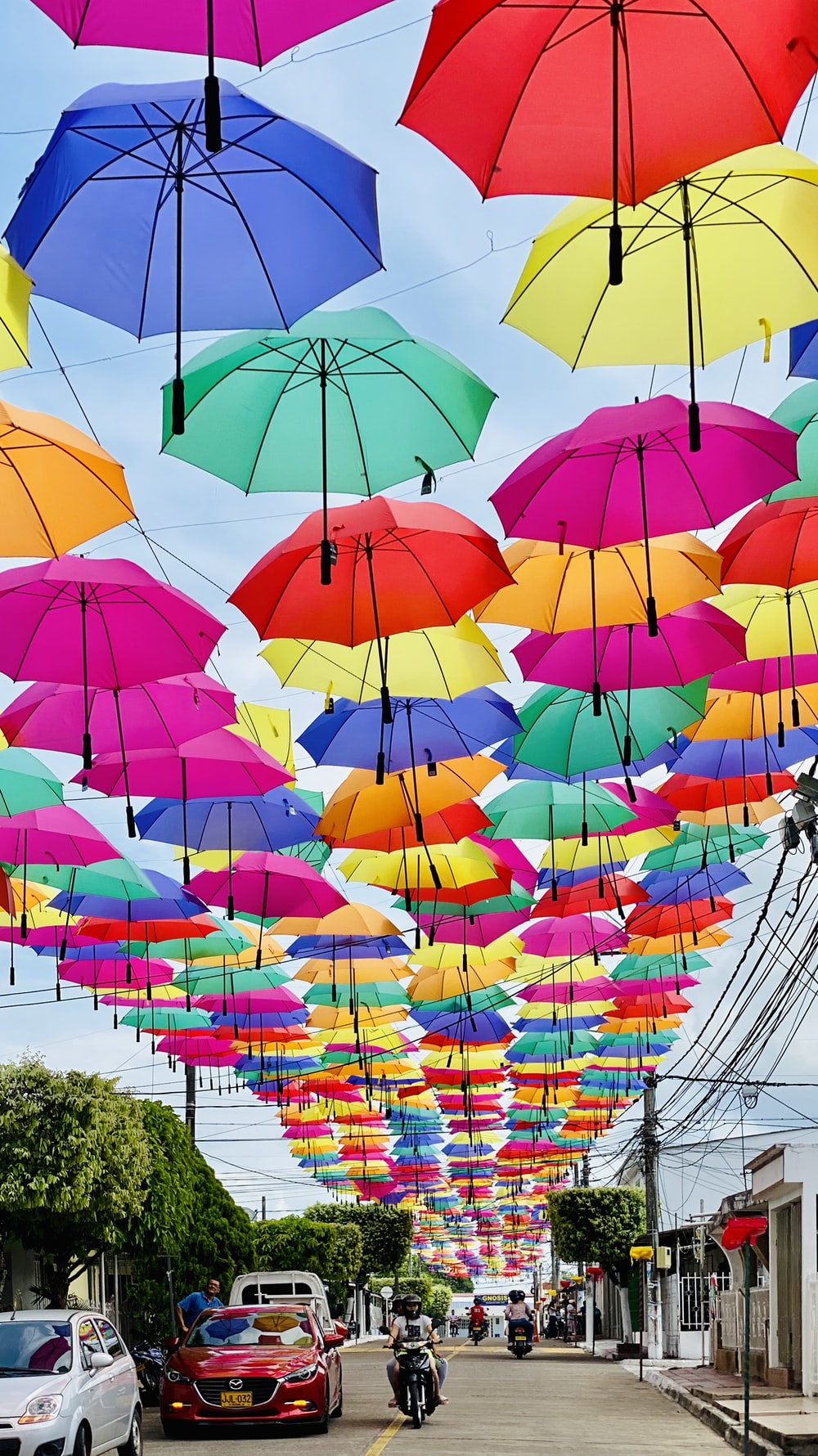multi colored umbrella umbrella umbrella lot