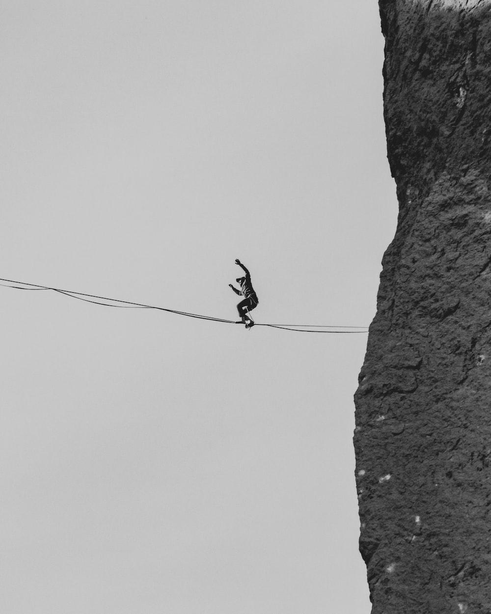 black bird on black wire during daytime