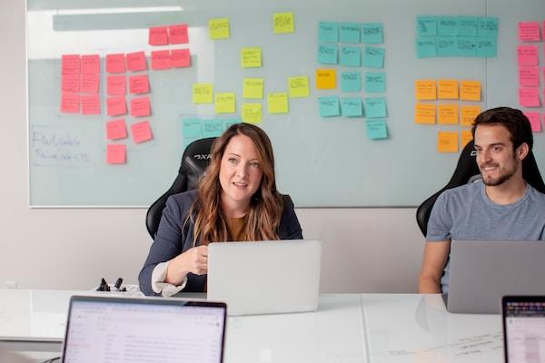 Brain writing in team meeting