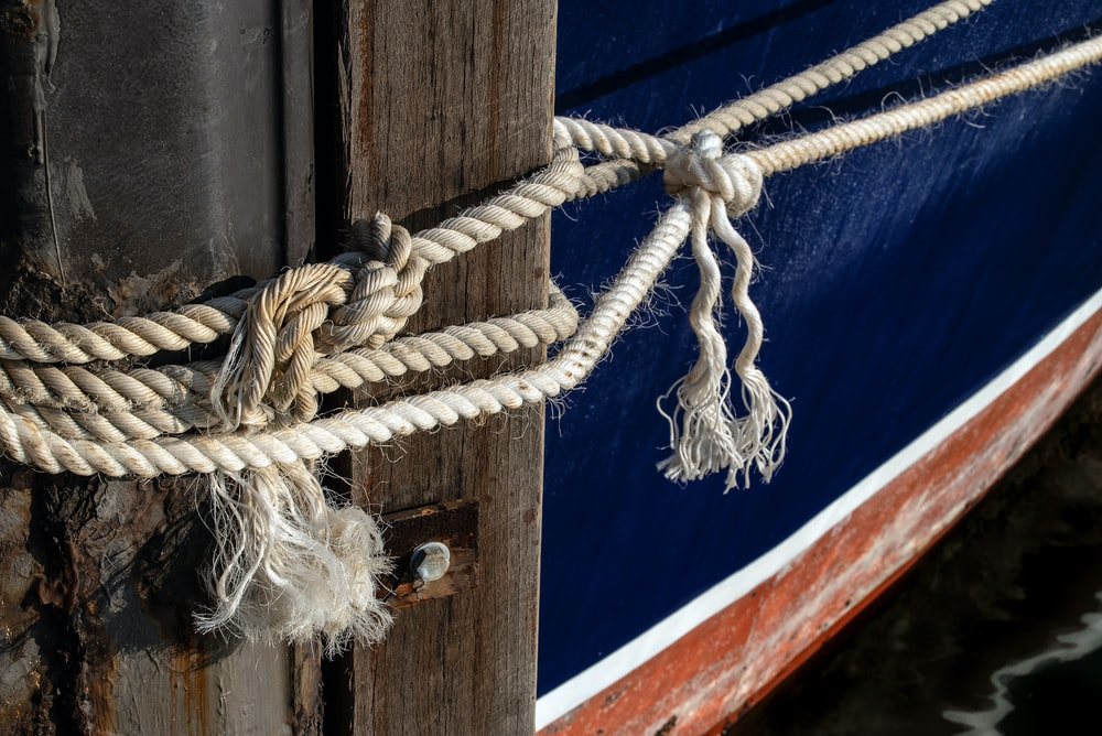 white rope on blue and red wooden board
