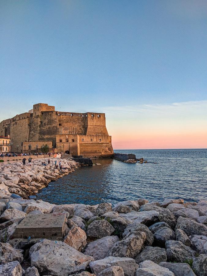 beautiful seashore of Naples, southern Italy