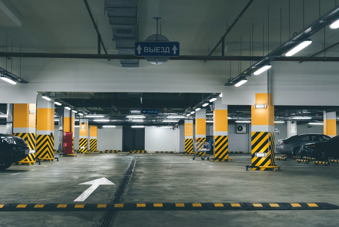 Car park in the mall.