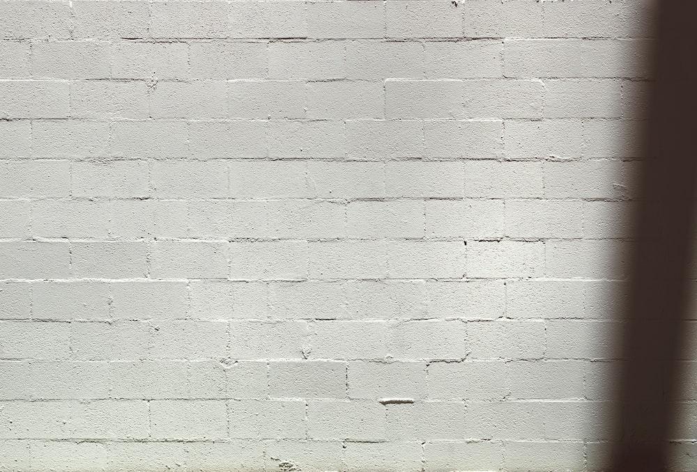 green and white brick wall