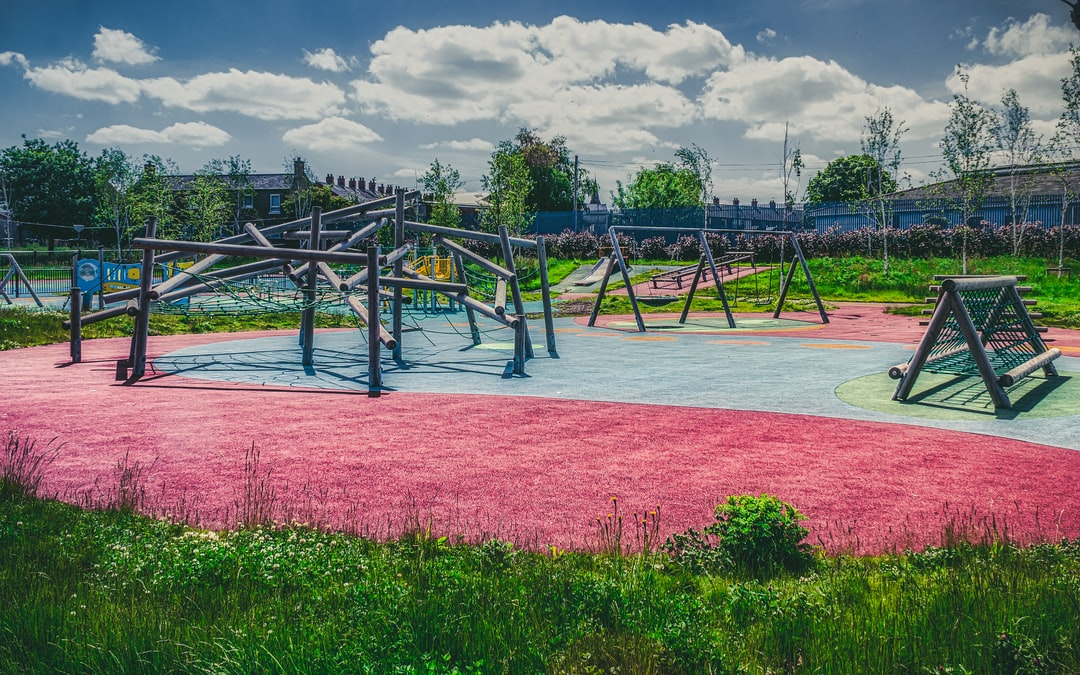 Two months into Lockdown, and Nature has begun replacing the wilds of children with its own at this locked and empty playground (May, 2020).