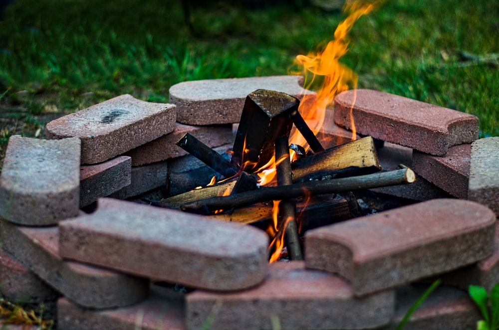 fire woods on fire pit