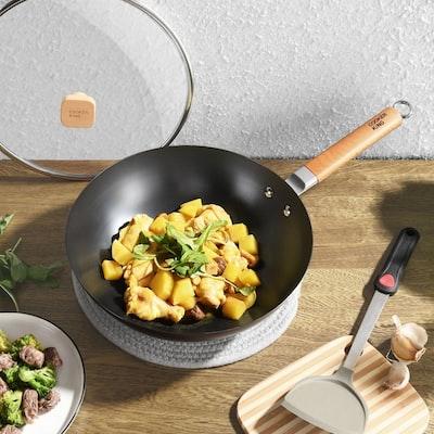 food in a wok