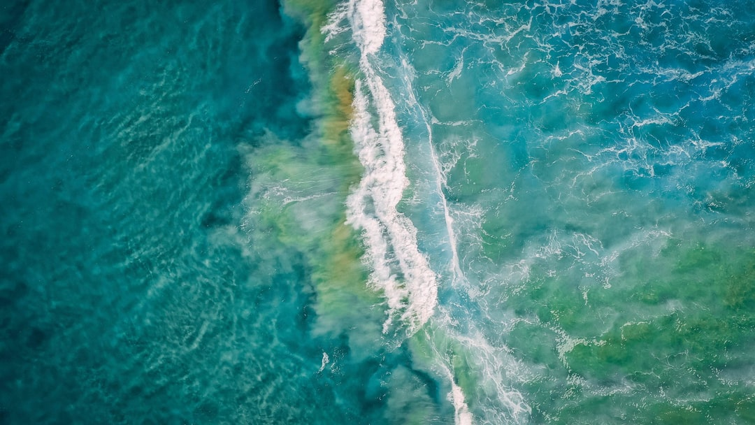 Aerial View of Ocean Waves - unsplash