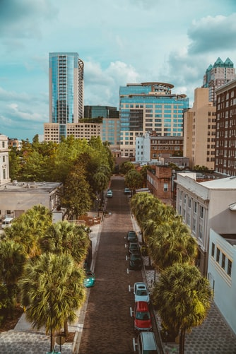 Downtown city of Orlando