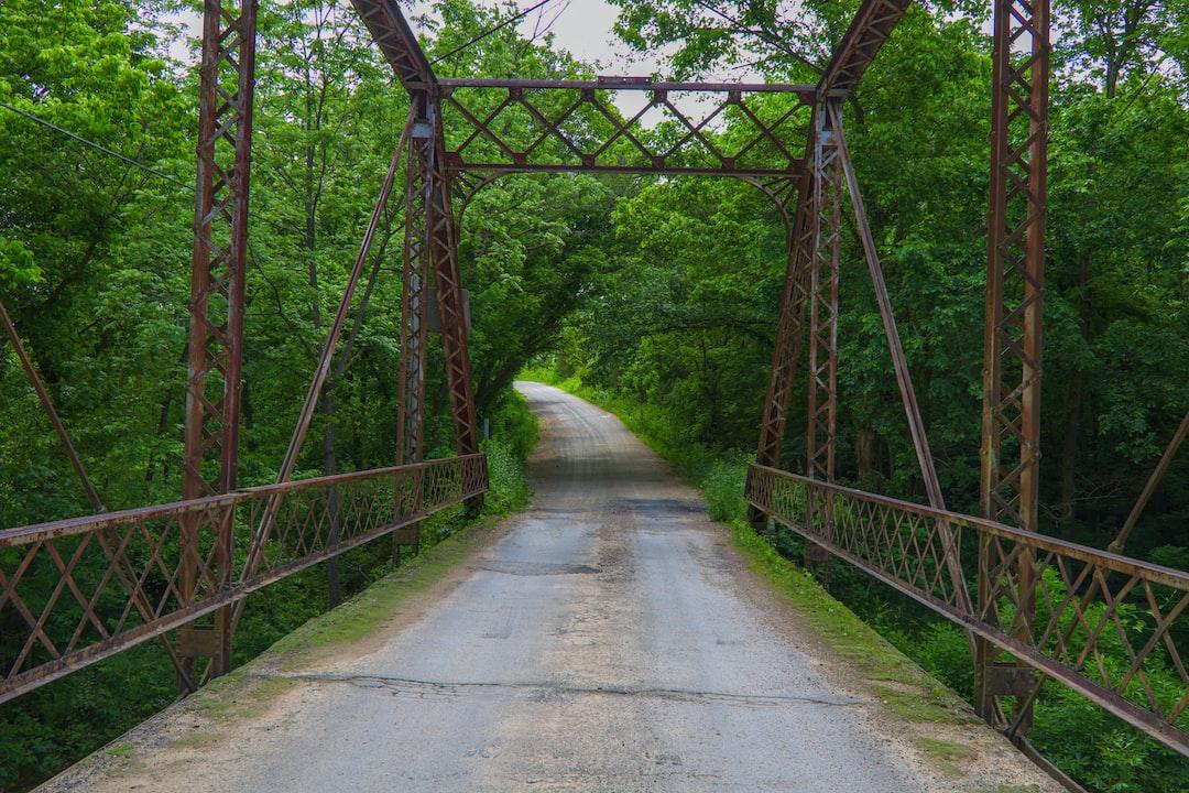 Old iron bridge on Farm Road 1165, east of McDowell, MO. USA. Flat Creek runs under this bridge.