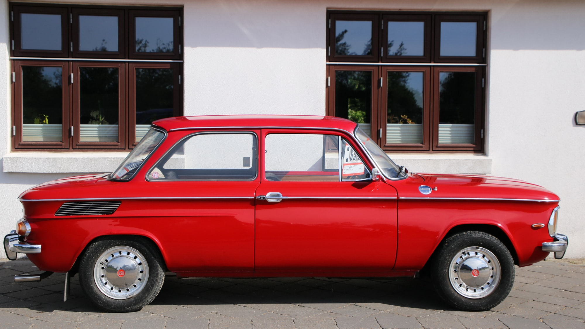 An old NSU 1200C in red.