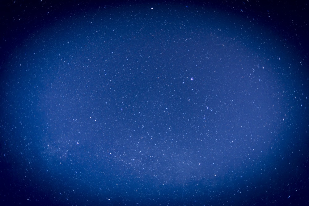 blue and white starry night