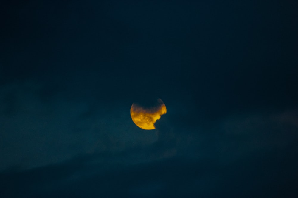 yellow moon in the sky